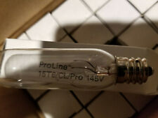 Quantity 3 of Ge 15w 145v T6 Tubular Bulb Lamp 100 Lumens