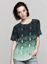 Equipment Riley Tee Storm Green Fading Serpent Print Size Small New With Tags