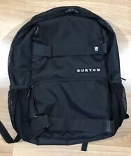 BURTON Snowboarding Backpack Black And White Board Straps