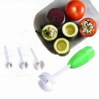 4Pcs Vegetable Spiral Cutter Digging Stuffed Vegetables Vege Drill Kitchen Tool