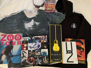 HUGE U2 Achtung Baby - 360 Lot: Achtung box set, Fly Sunglasses, Fly T-Shirt