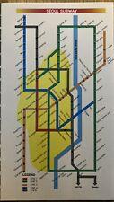 VINTAGE SEOUL CITY KOREA 1986 Subway Guide Map
