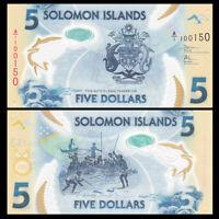 Salomonen / Solomon Islands 5 Dollars, ND(2019), P-NEW, Polymer, UNC
