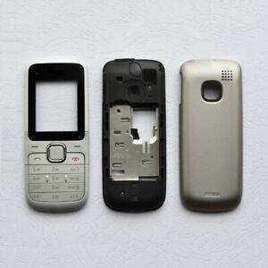For Nokia C1-01 C1 01  Full housing cover+Keypad+Battery Cover Silver Black