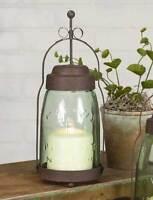 Country new BUTLER quart MASON JAR candle lantern