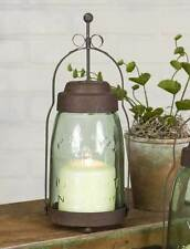 Primitive new BUTLER quart size MASON JAR candle lantern / nice