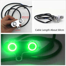CNC Motorcycles Adjustable Handlebar Switch Green LED 2-Button Self-Return Reset