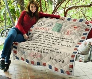 To my Daughter Limited Edition Quilt Blanket
