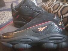 Reebok Iverson Legacy Men's Sneakers Black White Red Brass CN8404 Size 12