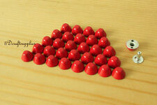 Purse feet studs leather rivet bag clothing shoes  100 sets 10 mm red M64C
