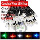 1.8mm 2mm 3mm 5mm 8mm 10mm Pre Wired LED DC9-12V Lights Emitting Diodes