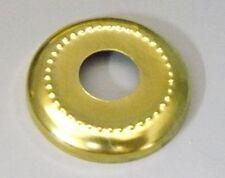 "(10) Brass Plated Steel 1 1/8"" Dia Beaded Check Ring lamp part 1/8 IPS Slip CB1"