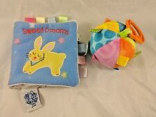 Taggies Sweet Dreams Cloth Soft Book & Ball Rattle Clip On Toy Stuffed