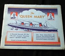 CUNARD WHITE STAR LINE QUEEN MARY Brochure 1936
