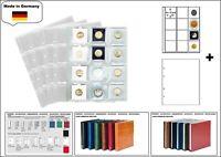 5 LOOK 1-7400-W Münzhüllen PREMIUM 12x  50x50 mm + weiße ZWL Für Münzrähmchen
