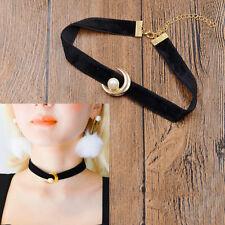 HOT Anime Sailor Moon Tsuking Usagi Pendant Choker Black Velvet Necklace Cosplay