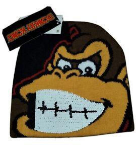 Nintendo Donkey Kong Knit Hat • Sequins • Kids • OSFM