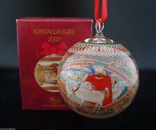 Hutschenreuther Glaskugel Kristall Kugel Weihnachtskugel 2007 mit Verpackung NEU