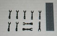 LEGO NEW Black Minifig Mechanical Droid Arm Straight (10x) 4505757 Brick 59230