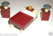 LEGO Custom Bedroom Furniture Dark Red Tile 1x4 Lamp Creator House 10229 10197