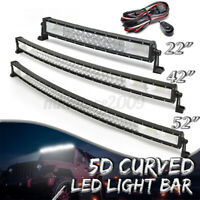"52/42/22""Inch LED Curved Work Light Bar Combo Car Pickup Offroad Driving"