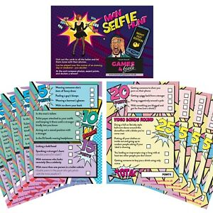 Hen Party Selfie Challenge Games Cards - Scavenger Hunt - Girls Night Out Game
