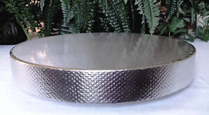 """16 inch or 18 inch Wedding Cake Stand """"Silver Reflections"""" Cake Stand, Riser"""