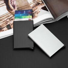 Men Stainless Steel RFID Blocking Credit Card ID Holder Slim Travel Case Wallet