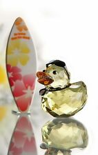 SWAROVSKI CRYSTAL HAPPY DUCK SUNNY STEVE (SURFBOARD) 1096743 MINT BOXED RETIRED