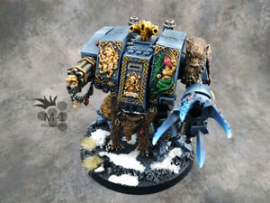 Warhammer 40k Space Wolves Bjorn the Fell Handed Dreadnought M1 painted