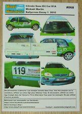 Décals 1/43e Saxo D1A  Mickaël Martin Rallycross Essay 1  2010
