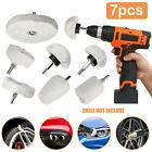 7PCS Car Polisher Polishing Buffing Pads Mop Wheel Drill Kit Aluminum Stainless