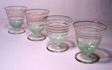 Set of 4 Vintage Frosted Gold Gilt GLASSES SirH70