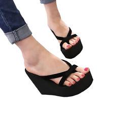 Женские пляжные вьетнамки шлепки высокий каблук платформа летние туфли на танкетке сандалии