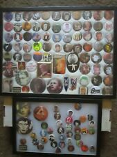 David Bowie button collection 114 items in cases