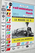 RMF RAIL MINIATURE FLASH N°42 1965 TRAINS LOCOMOTIVES / MÄRKLIN / MIKADO 141 R