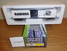 MTH RAILKING 30-74265 OAKLAND RAIDERS BOX CAR O GAUGE TOY TRAIN NFL FOOTBALL NIB
