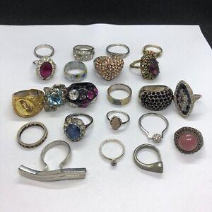 22 x Damaged / Scrap Rings, Various Sizes & Styles (JW-W)