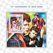 Sierra Leone 2017 MNH David Bowie 70th Anniv 1v S/S Celebrities Music Stamps