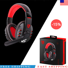 Wireless Headset Bluetooth Gaming Headset Mic Headphones Stereo  for PC Laptop