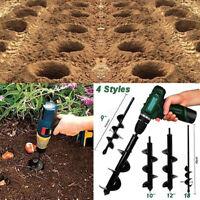 4Pcs Durable Auger Hole Digger Spiral Drill Bit Head For Garden Yard Planter Hot