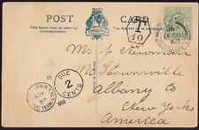 GB 1908 Postage Due PPC from LLANDUDNO to the USA (Liverpool Taxe Mark LV-1-10)