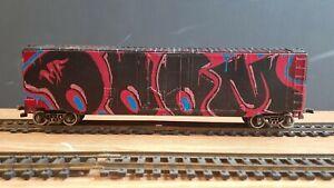 TRAINS BURLINGTON NORTHERN MF DOOM MADVILLAIN HO BOXCAR ORIGINAL GRAFFITI CEPS