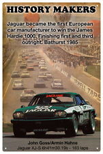 Jaguar Xj-s Bathurst 1985 Vintage Tin Sign 20x 30 Cm