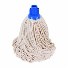 PACK OF 10 , Heavy Duty Replacement Cotton Floor Mop Head, Blue COLOR CODED