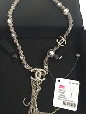 "Chanel Chain Necklace with ""CC"" Pendant .France"