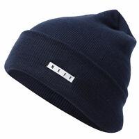 Neff Men's Lawrence Beanie Navy Blue Headwear Cold Snow Winter