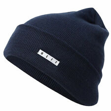 Neff Men's Lawrence Beanie Navy Blue Headwear Cold Snow Winter