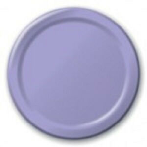 "Solid Plates 9"" Lunch 7"" Dessert Red Blue Yellow Green Purple Pink Black Orange"