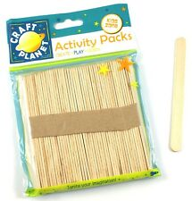 50 x Natural Wooden Lolly Lollipop Ice Lolly Stick  - Ideal For Childrens Crafts
